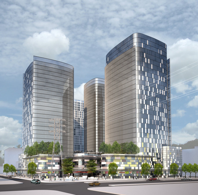 Hanhai Huanghe Road Mixed Use Development Amphibianarc